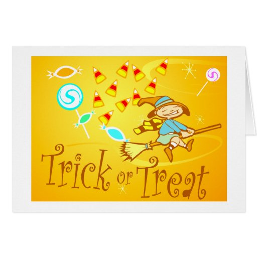 Trick or Treat Witch Greeting Card