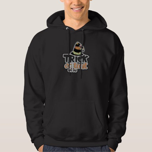 Trick Or Treat Witch Hat Halloween Hoodie