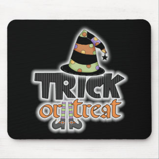 Trick Or Treat Witch Hat Halloween Mouse Pad