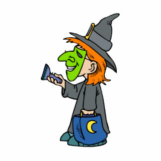 Trick or treat witch photo cut outs