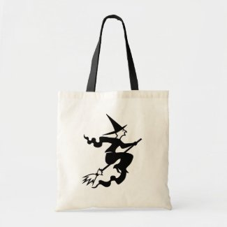 Trick or Treat Witch Wizard Halloween Bag by joacreations