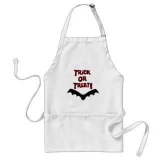 Trick or Treat with bat Adult Apron