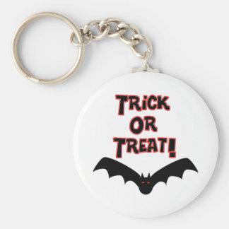 Trick or Treat with bat Keychain