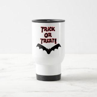 Trick or Treat with bat Travel Mug