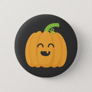Trick or Treat with Cute Pumpkin for Halloween Pinback Button