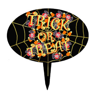 Trick or Treat with Halloween Candy Cake Topper