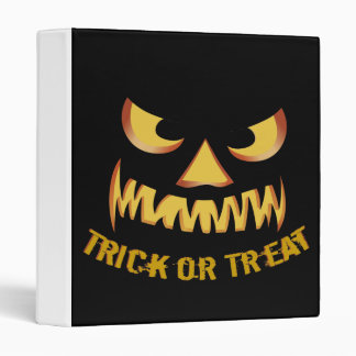 Trick or Treat with Pumpkin Face 3 Ring Binder