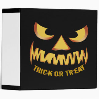 Trick or Treat with Pumpkin Face Binder