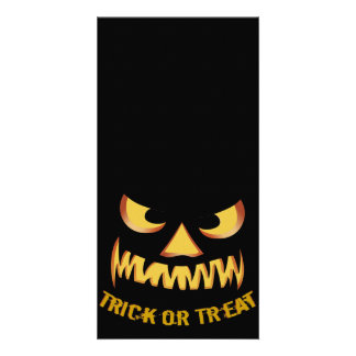 Trick or Treat with Pumpkin Face Card