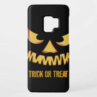 Trick or Treat with Pumpkin Face Case-Mate Samsung Galaxy S9 Case