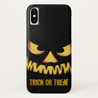 Trick or Treat with Pumpkin Face iPhone X Case