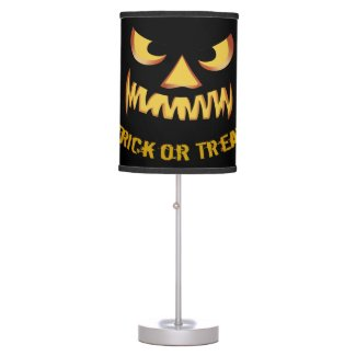Trick or Treat with Pumpkin Face Table Lamp