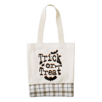trick or treat zazzle HEART tote bag
