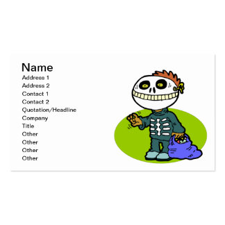 Trick Or Treat Zombie Double-Sided Standard Business Cards (Pack Of 100)