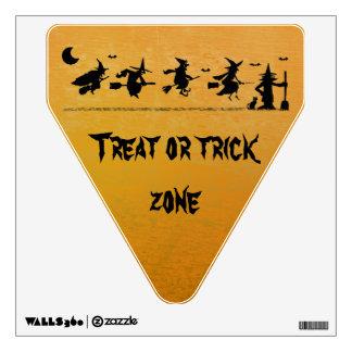 trick or treat zone wall sticker