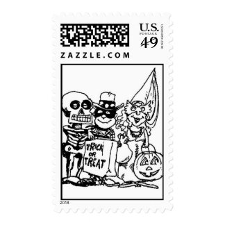 Trick or Treaters 2 Postage Halloween Stamp by ASM