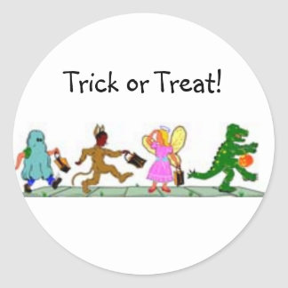 Trick or Treaters Classic Round Sticker