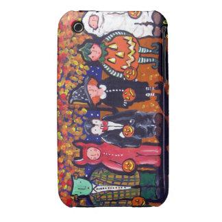Trick or Treaters Halloween Folk Art iPhone Case