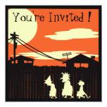 "Trick Or Treaters Halloween Party Invitation 5.25"" Square Invitation Card"