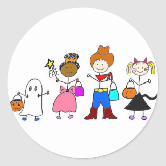 Trick or Treaters' Halloween Stickers