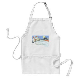 Trick Or Treaters Jack O Lantern Ghost Clown Adult Apron