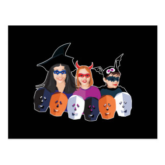 Trick or Treaters Post Cards