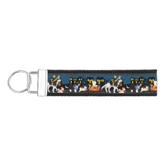 Trick or Treating Pets Wrist Keychain