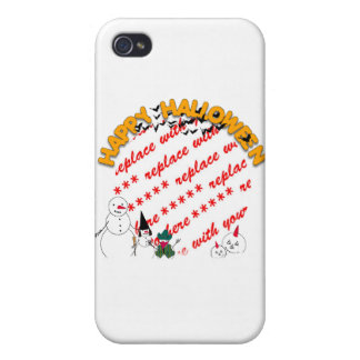 Trick or Treating Snowmen Photo Frame Cases For iPhone 4