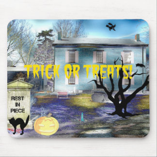 Trick or Treats Haunted House Mouse Pad