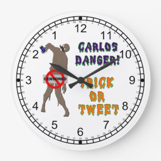 Trick or Tweet Large Clock