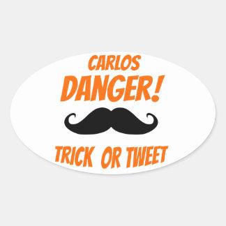 Trick or Tweet Oval Sticker