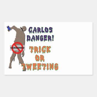 Trick or Tweet Rectangular Sticker