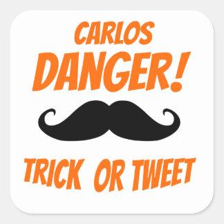 Trick or Tweet Square Sticker