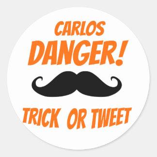 Trick or Tweet Classic Round Sticker