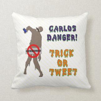 Trick or Tweet Throw Pillow