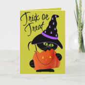 Trick r Treat Halloween Greeting Card card