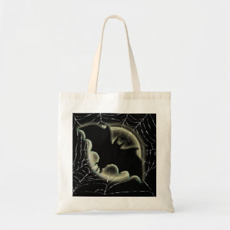 Trick treat bat moon spiderweb bag