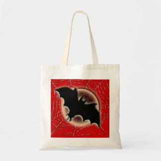 Trick treat bat moon spiderweb canvas bag