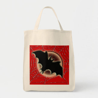 Trick treat bat moon spiderweb canvas bags