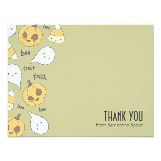 Trick Treat Boo! | Flat Thank You Note Cards