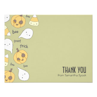Trick Treat Boo! | Flat Thank You Note Cards Custom Invites