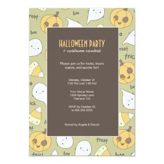 "Trick Treat Boo! | Halloween Party Invitations 5"" X 7"" Invitation Card"