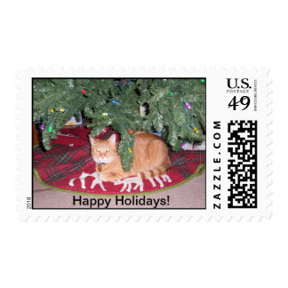 Trick under the Christmas Tree Stamps