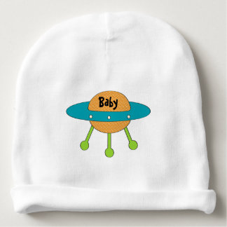 Tricked Out Spaceship Personalized Baby Beanie