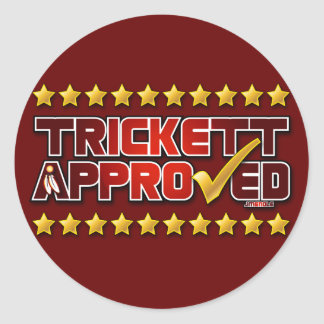 Trickett Approved Classic Round Sticker