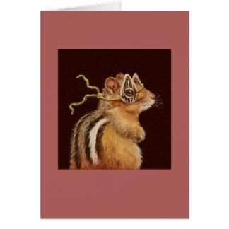 Trickie la tarjeta del chipmunk