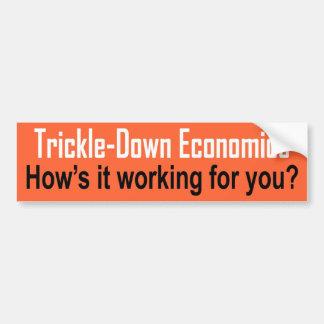 Trickle-Down Car Bumper Sticker