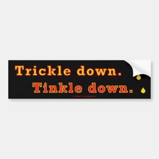 trickle-downBlack Bumper Sticker