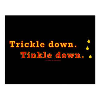 trickle-downBlack Postcard