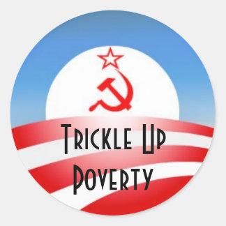 Trickle Up Poverty Round Sticker
